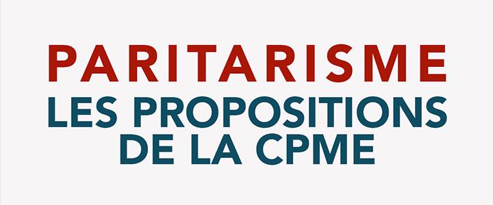Paritarisme - Les propositions de la CPME